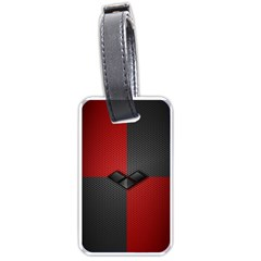 Harley Quinn Black Diamond Luggage Tags (two Sides)