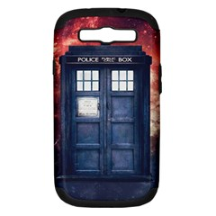 Doctor Who Tardis Samsung Galaxy S Iii Hardshell Case (pc+silicone) by Bejoart