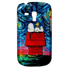 Dog Painting Stary Night Vincet Van Gogh Parody Samsung Galaxy S3 Mini I8190 Hardshell Case