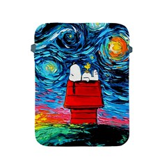 Dog Painting Stary Night Vincet Van Gogh Parody Apple Ipad 2/3/4 Protective Soft Cases by Bejoart