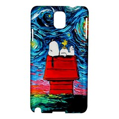 Dog Painting Stary Night Vincet Van Gogh Parody Samsung Galaxy Note 3 N9005 Hardshell Case