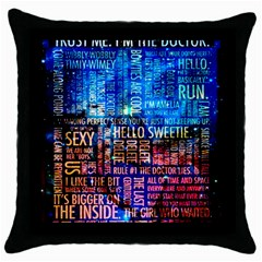 Doctor Who Quotes,trust Me Im Doctor Throw Pillow Case (black)