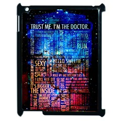 Doctor Who Quotes,trust Me Im Doctor Apple Ipad 2 Case (black) by Bejoart