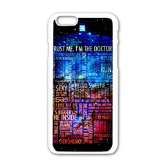 Doctor Who Quotes,trust Me Im Doctor Apple Iphone 6/6s White Enamel Case