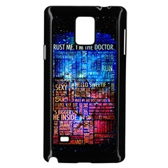 Doctor Who Quotes,trust Me Im Doctor Samsung Galaxy Note 4 Case (black) by Bejoart