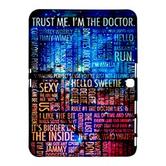 Doctor Who Quotes,trust Me Im Doctor Samsung Galaxy Tab 4 (10 1 ) Hardshell Case