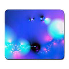 Love In Action, Pink, Purple, Blue Heartbeat Large Mousepads