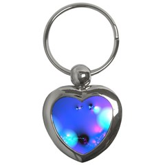 Love In Action, Pink, Purple, Blue Heartbeat Key Chains (heart)  by DianeClancy
