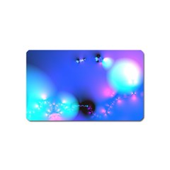 Love In Action, Pink, Purple, Blue Heartbeat Magnet (name Card)