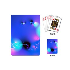 Love In Action, Pink, Purple, Blue Heartbeat Playing Cards (mini)