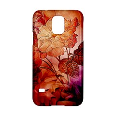 Flower Power, Colorful Floral Design Samsung Galaxy S5 Hardshell Case  by FantasyWorld7