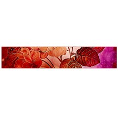 Flower Power, Colorful Floral Design Large Flano Scarf