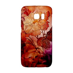 Flower Power, Colorful Floral Design Samsung Galaxy S6 Edge Hardshell Case by FantasyWorld7