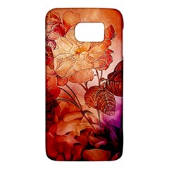 Flower Power, Colorful Floral Design Samsung Galaxy S6 Hardshell Case  by FantasyWorld7