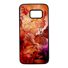 Flower Power, Colorful Floral Design Samsung Galaxy S7 Black Seamless Case by FantasyWorld7