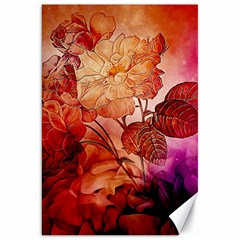 Flower Power, Colorful Floral Design Canvas 20  X 30  by FantasyWorld7