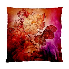 Flower Power, Colorful Floral Design Standard Cushion Case (two Sides) by FantasyWorld7