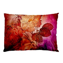 Flower Power, Colorful Floral Design Pillow Case (two Sides) by FantasyWorld7
