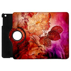 Flower Power, Colorful Floral Design Apple Ipad Mini Flip 360 Case by FantasyWorld7