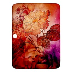 Flower Power, Colorful Floral Design Samsung Galaxy Tab 3 (10 1 ) P5200 Hardshell Case  by FantasyWorld7