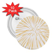 Yellow Firework Transparent 2 25  Buttons (10 Pack)
