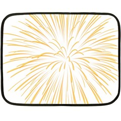 Yellow Firework Transparent Double Sided Fleece Blanket (mini)