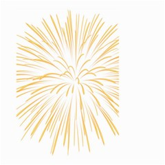 Yellow Firework Transparent Small Garden Flag (two Sides) by Mariart