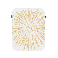 Yellow Firework Transparent Apple Ipad 2/3/4 Protective Soft Cases by Mariart