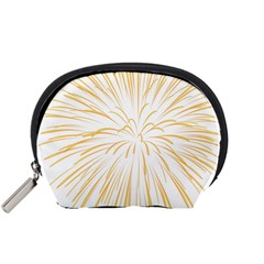 Yellow Firework Transparent Accessory Pouch (small)