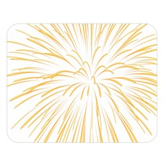 Yellow Firework Transparent Double Sided Flano Blanket (large)