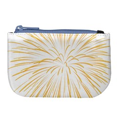 Yellow Firework Transparent Large Coin Purse