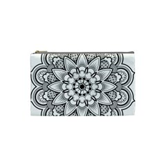 Star Flower Mandala Cosmetic Bag (small) by Jojostore