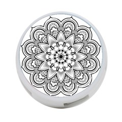 Star Flower Mandala 4-port Usb Hub (two Sides)
