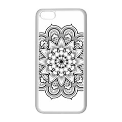 Star Flower Mandala Apple Iphone 5c Seamless Case (white)