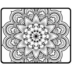 Star Flower Mandala Double Sided Fleece Blanket (medium)