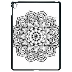 Star Flower Mandala Apple Ipad Pro 9 7   Black Seamless Case