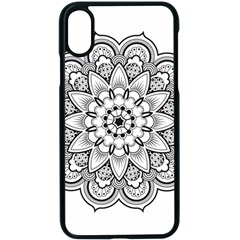 Star Flower Mandala Apple Iphone X Seamless Case (black)
