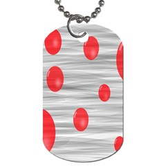 Red Dot Bubbles Dog Tag (one Side)
