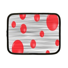 Red Dot Bubbles Netbook Case (small)