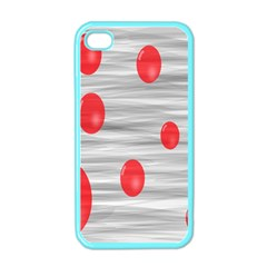 Red Dot Bubbles Apple Iphone 4 Case (color)