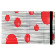 Red Dot Bubbles Apple Ipad 2 Flip Case by AnjaniArt