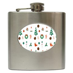 Christmas Tree Pattern Material Hip Flask (6 Oz)