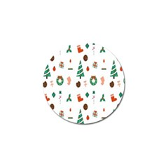 Christmas Tree Pattern Material Golf Ball Marker (10 Pack) by AnjaniArt