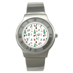 Christmas Tree Pattern Material Stainless Steel Watch
