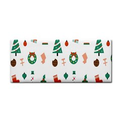 Christmas Tree Pattern Material Hand Towel by AnjaniArt