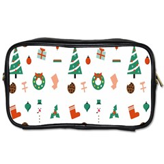 Christmas Tree Pattern Material Toiletries Bag (one Side)
