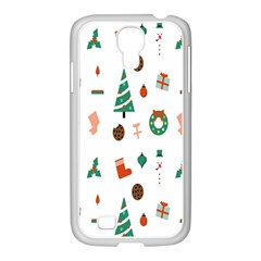 Christmas Tree Pattern Material Samsung Galaxy S4 I9500/ I9505 Case (white)