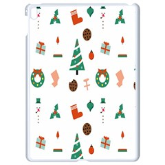 Christmas Tree Pattern Material Apple Ipad Pro 9 7   White Seamless Case