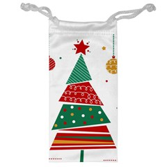 Christmas Tree Decorated Jewelry Bag