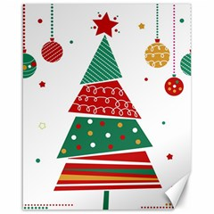 Christmas Tree Decorated Canvas 16  X 20
